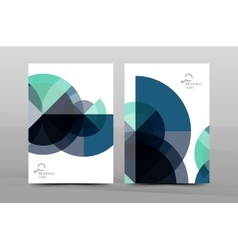 Annual report cover geometric design vector