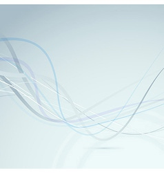 Abstract transparent swoosh lines background vector image vector image