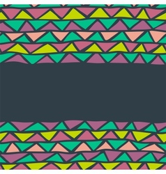 abstract triangle seamless background vector image
