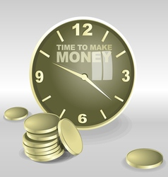 Big 3d clock with time to make money vector image