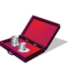Briefcase with coin vector image