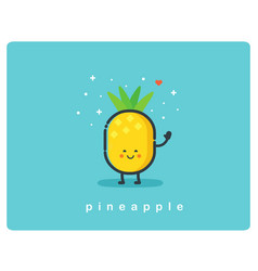 con of pineapple fruit funny cartoon character vector image vector image