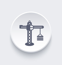 construction crane icon vector image vector image
