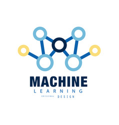 creative machine learning logo artificial vector image vector image