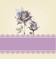 cute roses baby shower vector image vector image