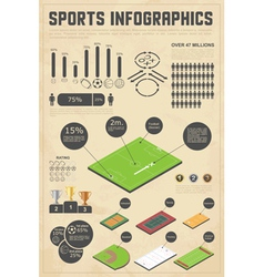 Design elements for sports infographics vector image