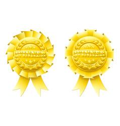 gold winner rosettes vector image vector image
