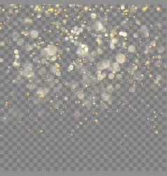 golden glitter christmas effect eps 10 vector image