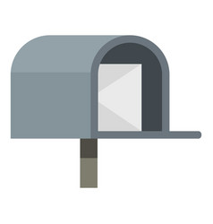 Gray mailbox icon isolated vector