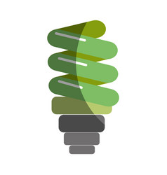 green save bulb energy icon vector image vector image