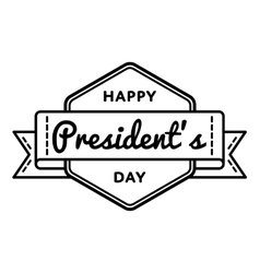 Happy Presidents day greeting emblem vector image vector image