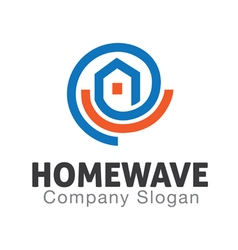 Home Wave Design vector image vector image