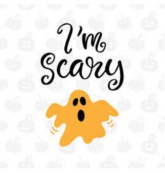 im scary halloween party poster vector image vector image
