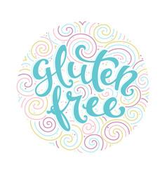 label gluten free vector image