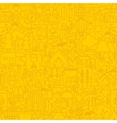 Line yellow camp seamless pattern vector