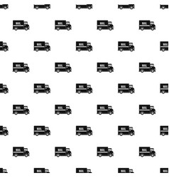 mail truck pattern vector image vector image