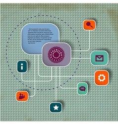 Minimalistic web design vector image