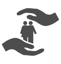 People care hands flat icon vector