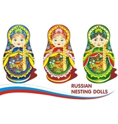 Russian nesting dolls vector image vector image