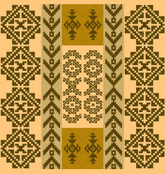 seamless pattern with traditional native american vector image