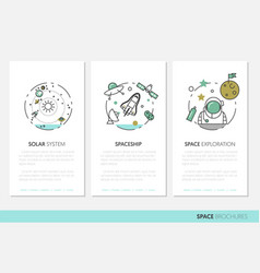 space research business brochure template vector image vector image