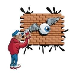 Urban art and graffiti design vector image