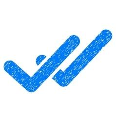 Validation grainy texture icon vector