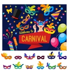 Welcome To Carnival Concept vector image
