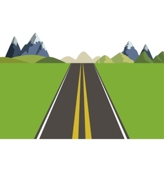 Mountains and street landscape design vector