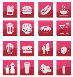 Food icon glossy style vector
