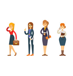 business people woman character vector image