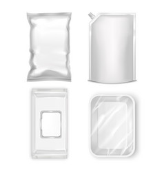 Template blank realistic packge set vector