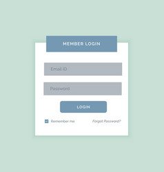 Minimal white login form design template vector