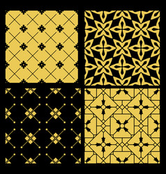 Golden pattern set vector