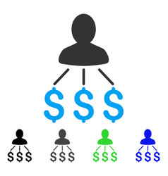 Person expenses flat icon vector