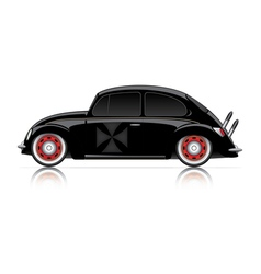 Compact black hot-rod vector