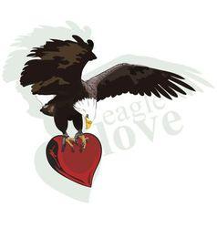 eagle heart vector image