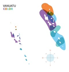 Abstract color map of vanuatu vector