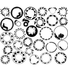 animal rings vector image