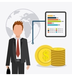 Business money and human resources vector image