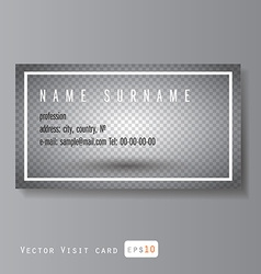 visit card with transparent layer vector image