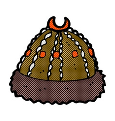 Comic cartoon medieval hat vector