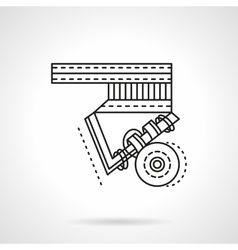 Longboard suspension flat line icon vector
