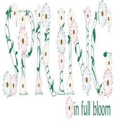Spring in full bloom vector