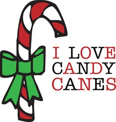 Love candy canes vector