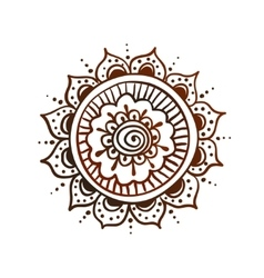 Hand drawn mandala vector image