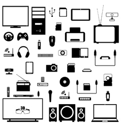 A set of digital devices vector image vector image