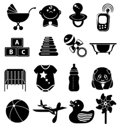 Baby Elements Set vector image vector image