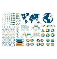 Big set of infographics elements vector