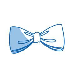 Bow decoration elegant ribbon festive vector